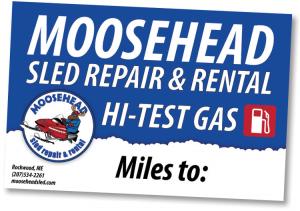 Moosehead Sled Trail Sign